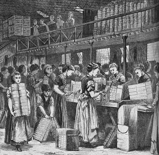 Women working in a match factory