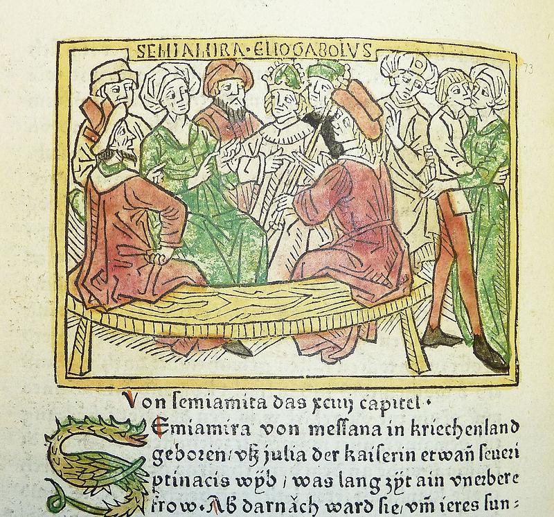 Giulia Soemia ed Eliogabalo, traduzione tedesca De mulieribus claris.