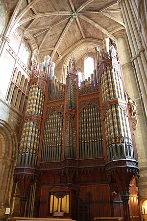 Organ Sonata (Elgar) -  The Worcester Cathedral organ for which the Sonata was written