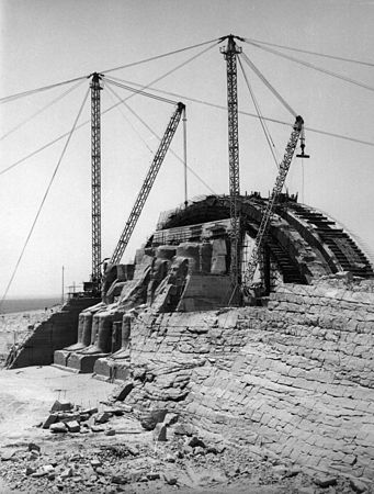 Work in progress of the re - erection of the Great Temple on its new site.jpg