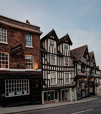 Shrewsbury - Typical Tudor and Georgian architecture on Wyle Cop.