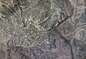 Yates Oil Field - Image: Yates Oilfield NASA