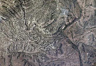 Yates Oil Field - Image: Yates Oilfield NASA