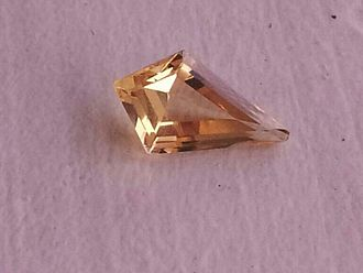 Topaz - Yellow topaz in stepped kite-shaped cut