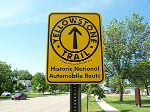 Yellowstone Trail - Route marker in Wisconsin.