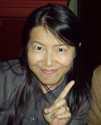 A 2007 photograph of Yoko Shimomura, composer for Parasite Eve and later The 3rd Birthday. Yoko Shimomura.jpg
