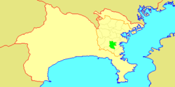 Location of Kōnan in  Kanagawa