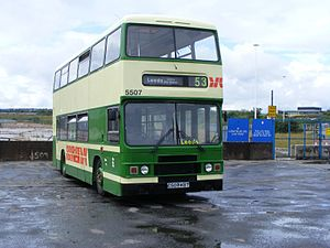 West Yorkshire Metro - Preserved Yorkshire Rider Leyland Olympian in Leeds in July 2009