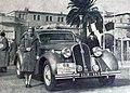 Yvonne Simon, victorieuse du Rallye Paris - Saint-Raphaël Féminin 1939, sur Hotchkiss GS.jpg