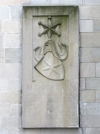 Rudolf Brun - Brun's tombstone, St. Peter church in Zürich