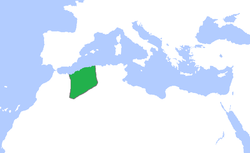The Abdalwadid (or Zayyanid) dynasty (green), c. 1300-1500.