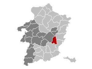 Zutendaal - Image: Zutendaal Limburg Belgium Map