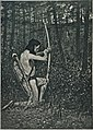 """(T)hen upon one knee, uprising, Hiawatha aimed an arrow"" LCCN2001696063.jpg"