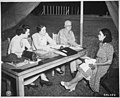 """""""A Negro WAAC (Mrs. Mary K. Adair) takes an examination for Officers' Candidate School, Fort McPherson, Georgia."""", 06-20 - NARA - 531337.jpg"""