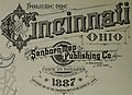 """Cincinnati Ohio"" title detail, Sanborn Fire Insurance Map from Cincinnati, Hamilton County, Ohio. LOC sanborn06645 001-2 (cropped).jpg"