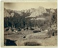 """Horse Shoe Curve."" On B(urlington) and M(issouri River) R'y. Buckhorn Mountains in background LCCN99613824.jpg"