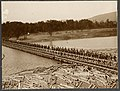 """""""Troops marching across bridge on the St. Charles River, built by the Canadian Engineers"""", Montreal Daily Star, p.17, 26 September 1914 (18912690563).jpg"""