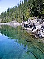 '10 cyrstal clear water, can see to the bottom, near the Molly Hughes mine - panoramio.jpg