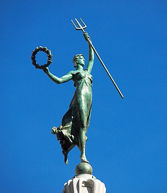 Dewey Monument - The Goddess of Victory statue atop the Dewey Monument (2010)