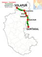 (Guntakal - Solapur) Passenger route map.png