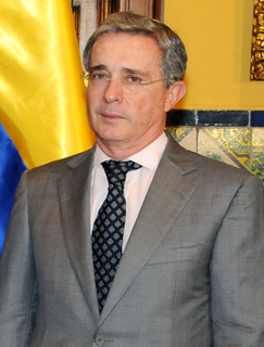 Álvaro Uribe 31st President of Colombia