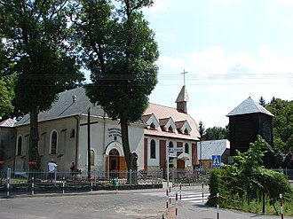 Świnice Warckie - Church of Saint Casimir, built 1859.