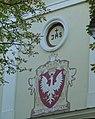 Żelechów - kościół parafialny pod wezwaniem Zwiastowania Najświętszej Marii Panny, zewnętrzna elewacja prezbiterium, detal AL01.jpg