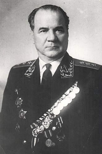 Order of Nakhimov - Admiral Nikolay Mikhaylovich Kharlamov, a recipient of the Order of Nakhimov 1st class