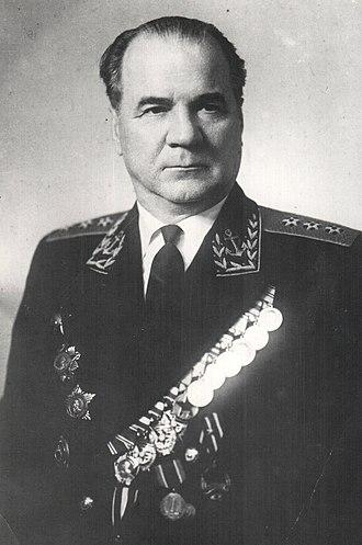Order of Ushakov - Admiral Nikolay Mikhaylovich Kharlamov, a recipient of the Order of Ushakov 1st class