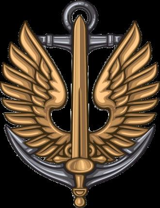 Ukrainian Naval Infantry - Cap badge (cockade) of the Ukrainian Naval Infantry