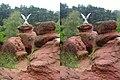 Кисловодск. Орел на Красных камнях (X-3D stereo). 22-09-2010г. - panoramio.jpg