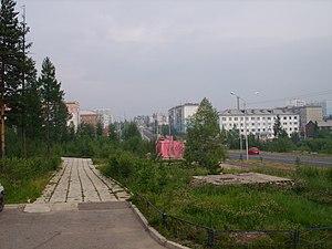 Neryungri - Kravchenko Street in Neryungri