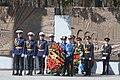 Праздничная группа кадетов на фоне Широкореченского мемориала Екатеринбург 7 мая 2019 года.jpg