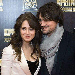 Danila Kozlovsky - Yuliya Snigir and Danila Kozlovsky, during the premiere of A Good Day to Die Hard, 2013