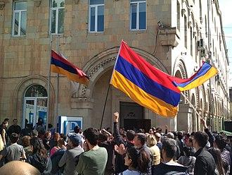 2018 Armenian revolution - Protests on 14 April 2018