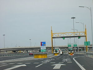 5th Ring Road (Beijing) - One of the former toll booths – this one is at Laiguangying, N. 5th Ring Road (taken in March 2003)