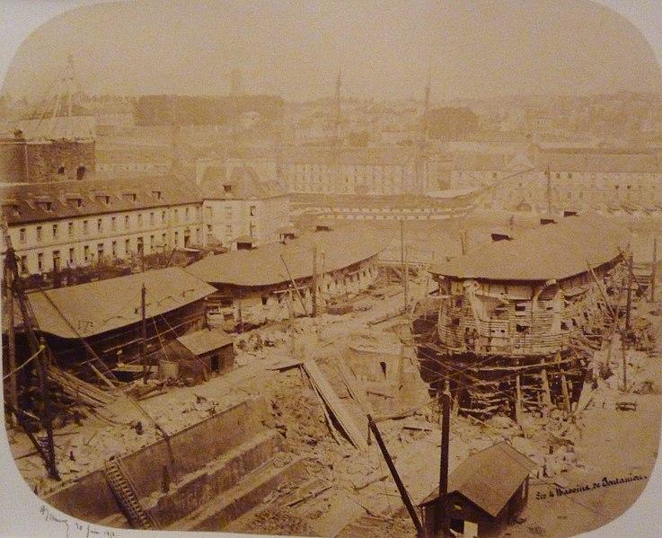 File:027 Alfred Bernier Les quatre bassins de Pontaniou à Brest 1858.jpg