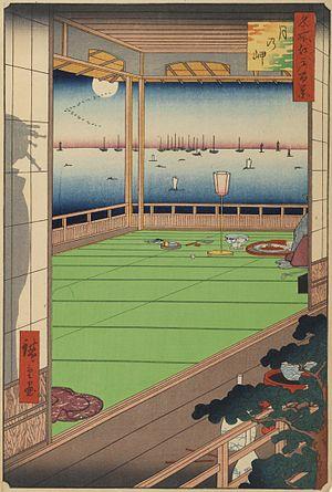 Tsuki no Misaki - Painting of Hiroshige, Tsuki no Misaki, from One Hundred Famous Views of Edo