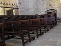 102 Santa Maria de Pedralbes, cor dels frares i bancs.jpg