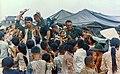 111-CCV-293-CC44664 2nd Brigade, 1st Infantry Division soldiers distributing supplies to Vietnamese children 1967.jpg