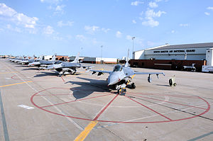 114th Fighter Wing - 114th Fighter Wing Block 40 F-16 Fighting Falcons at Joe Foss Field AGS