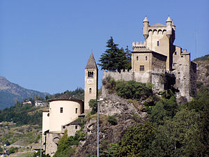 Aosta Valley - The Saint-Pierre Castle.
