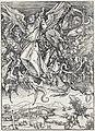 12. Albrecht Dürer, Apokalypsa, X. Sv. Michael bojující s drakem, Národní galerie v Praze.jpg