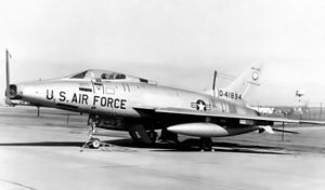 107th Attack Wing - 136th Tactical Fighter Squadron - North American F-100C Super Sabre 54-1894, about 1965