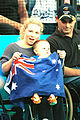 141100 - Audience Australian mother baby flag - 3b - 2000 Sydney public photo.jpg
