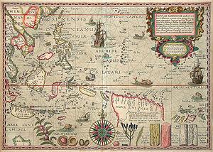 Balthazar de Moucheron - Insulae Moluccae 1592 (including Indonesia) by Petrus Plancius