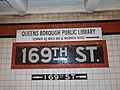 169th Street - IND Queens Blvd; QBPL sign over Mosaic.jpg