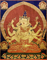 17th century Central Tibeten thanka of Guhyasamaja Akshobhyavajra, Rubin Museum of Art3.png
