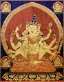 17th century Central Tibeten thanka of Guhyasamaja Akshobhyavajra, Rubin Museum of Art3.png