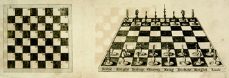 William Pelham (bookseller) - Fold-out illustration from Elements of Chess published by Pelham in 1805